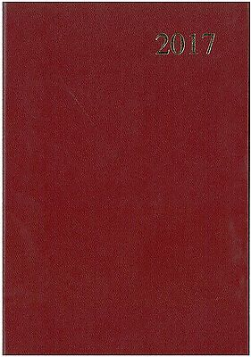 2017 Red A5 Week to View Diary Collins Essential