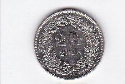 cl 3) pieces suisse de 2 franc de 2007
