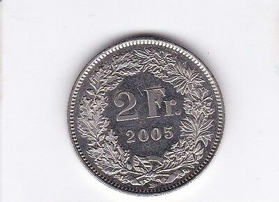 cl 3) pieces suisse de 2 franc de 2005
