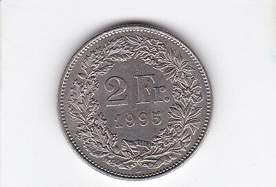 cl 3) pieces suisse de 2 franc de 1995