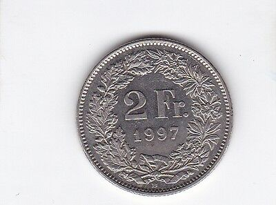 cl 3) pieces suisse de 2 franc de 1997