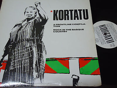 """KORTATU - A Frontline Compilation - Rock In The Basque Country, LP 12"""" 1989"""