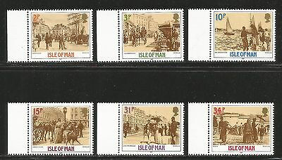 Isle of Man 1987 Victorian Era Photographs--Attractive Topical (321-26) MNH
