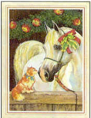 Xmas Cards ARABIAN HORSE w/Cat Holiday Christmas Cards 12 per pkg