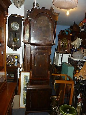 Antique Oak+Mahogany Grandfather Clock Case For Restoration Or Other Use