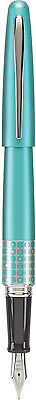 Pilot Metropolitan MR Retro Fountain Pen - TURQUOISE w/ Accents - Fine Nib - New