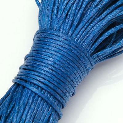 45M 1mm Waxed Cotton Cord for DIY Necklace Bracelet Craft Making U Pick Color