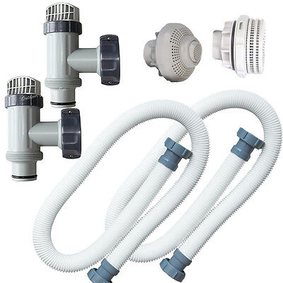 "Intex Strainer Kit with Plunger Valves, Inlet & Direct Outlet and 1.5"" Hoses"