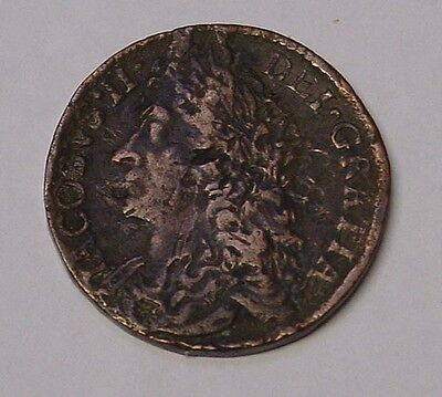 IRELAND 1690 Gun Money Half Crown of James II, Fine and interesting.