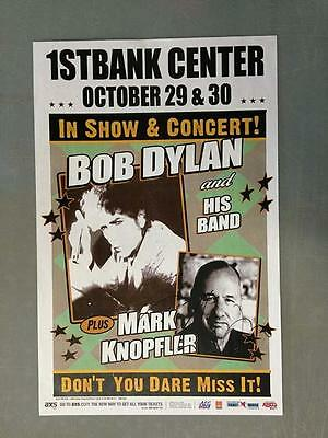 Mark Knopfler Signed Broomfield 2012 Concert Poster Colorado Dire Straits