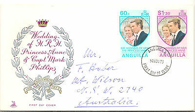 Anguilla 1973 Royal Wedding first day cover