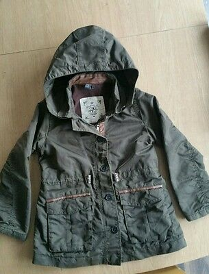 ZARA Girl green coat Age 7-8