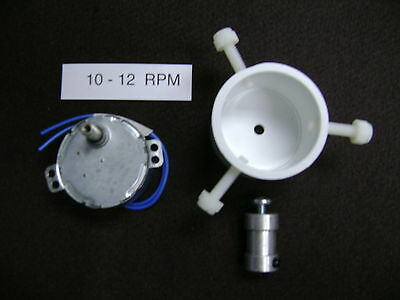 ** 220-240 ** volts, 10-12  RPM  DRYING-DRYER MOTOR   with Rod Chuck