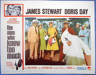 THE MAN WHO KNEW TOO MUCH Lobby Card #5 Doris Day James Stewart Alfred Hitchcock