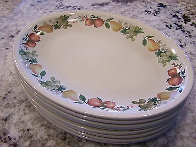 "(8) Wedgewood 10"" Oval Dinner Plates In Quince Pattern"