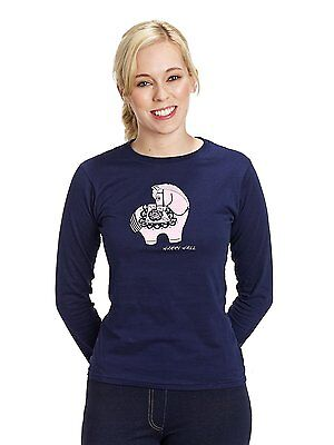 New ** Harry Hall** Navy Ladies Size Medium (10-12) Long Sleeve Fitted Top
