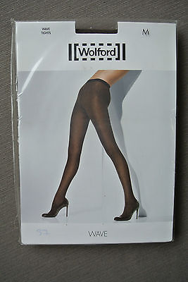 WOLFORD WAVE strumpfhose Tights Gr M chocolate black Shipping Worldwide