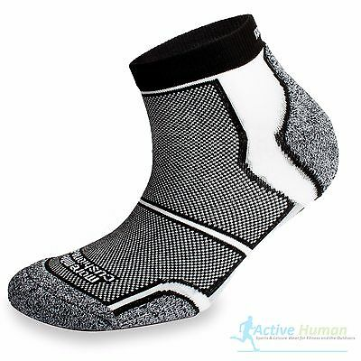 3 Pairs Running Socks Mens Cushioned More Mile COOLMAX Sports Fitness Gym Black