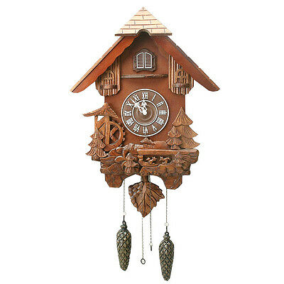 Large Carved Wood Cuckoo Wall Clock. New And Boxed.wooden