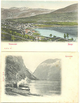Norway four attractive unused early picture postcards