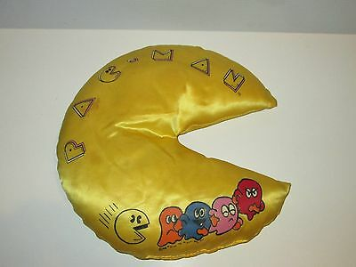 Pac-Man 1980 Midway Video Game Character Satin Stuffed Pacman Shaped Pillow