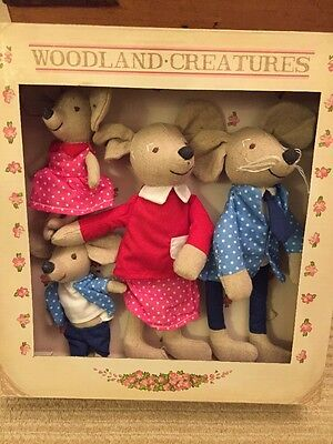 Brand New Set Of 4 Woodland Creatures Family Of Mice Toys