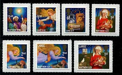 GREAT BRITAIN Sc.# 2974-80 Christmas 2011 Self-Adh. Stamps