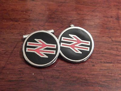 Beautiful Pair of Cufflinks Made from Genuine British Rail Uniform Buttons