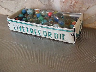 """Vintage New Hampshire """"Live Free Or Die"""" License Plate Box - Free Shipping -"""