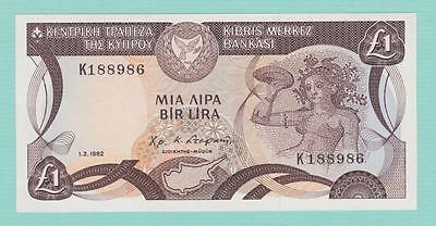 Cyprus One Pound Banknote 1-2-1982 P50