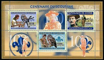 GUINEA Stock# HS11 Scouting (Birds) Stamp Sheetlet #2