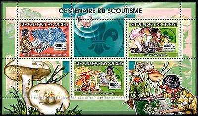 GUINEA Stock# HS16 Scouting (Minerals & Mushrooms) Stamp Sheetlet