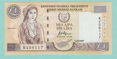 CYPRUS ONE POUND BANKNOTE 1-10-1997 P60a