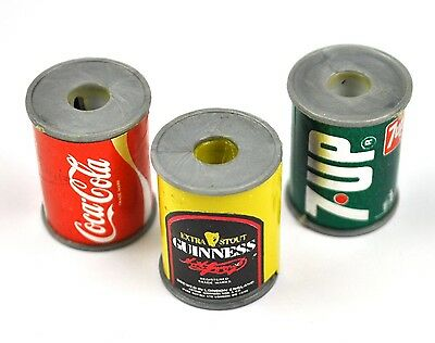 Set 3 Spitzer USA Anspitzer Dosen Form Coca-Cola Coke + 7Up + Guinness Bier