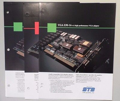 STB Systems VGA EM-16 AutoVGA RapidMAX Ext Memory Card Brochures