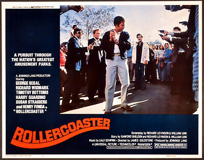 ROLLERCOASTER 1977 Timothy Bottoms, George Segal LOBBY CARD #3