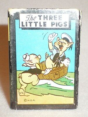 Vintage 1946 Russell Three Little Pigs Mini Cards Game Disney