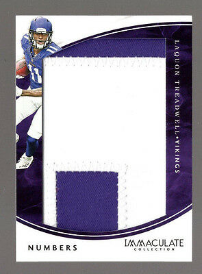 2016 Immaculate Laquon Treadwell Numbers 2 Color Colossal Patch 25/50 Rc Vikings