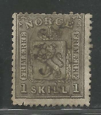 Norway Stamp Scott #11 from Quality Old Album 1867