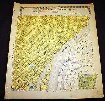 City of Saginaw Environs section 26 or 25 Brady Hill Michigan 1910 Plat Map