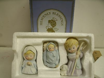 "1986 Avon Heavenly Blessings ""The Holy Family"" Figurines W/ BOX"