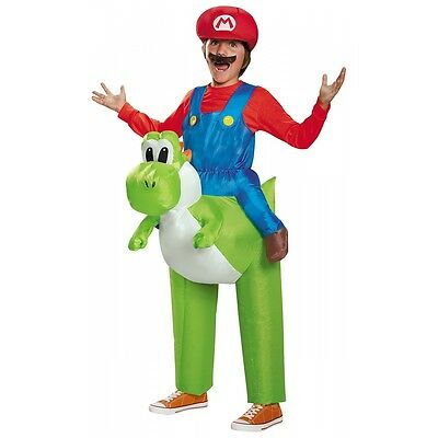 Mario Riding Yoshi Costume Kids Super Mario Brothers Halloween Fancy Dress