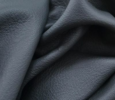 Leather Cow Upholstery full hide 40.1 Square Foot Dark Grey 2 1/2-3 oz grainy -h