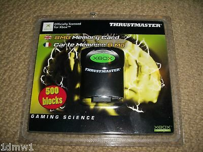MICROSOFT XBOX ORIGINAL MEMORY CARD 8 MB 8MB in Black - BRAND NEW! Thrustmaster