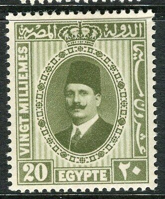 EGYPT;  1927 early King Faud issue 20m. fine Mint hinged value