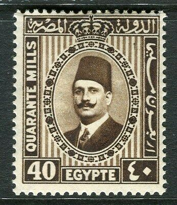 EGYPT;  1927 early King Faud issue 40m. fine Mint hinged value