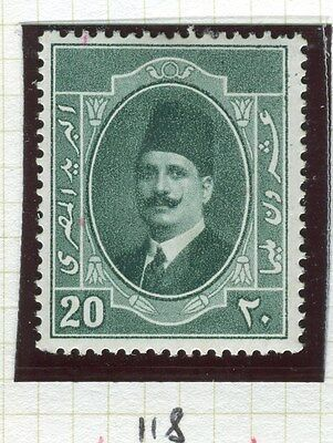 EGYPT;  1923-4 early King Faud issue 20m. fine Mint hinged value,