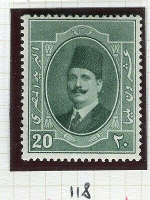 EGYPT;  1923-4 early King Faud issue 20m. fine Mint hinged value, shade