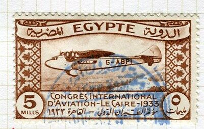 EGYPT;  1933 Aviation Congress Cairo fine used 5m. value