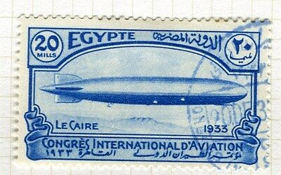 EGYPT;  1933 Aviation Congress Cairo fine used 20m. value